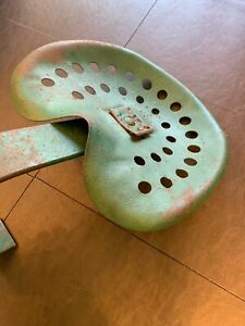 Vintage Metal Tractor Seat With Bracket
