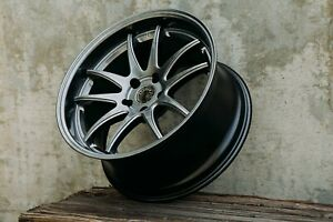 Aodhan Ds02 18x9 5 22 18x10 5 22 5x114 3 Hyper Black Staggered Set Of 4