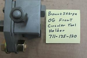 Brown Sharpe 0g Front Cross Slide Tool Holder