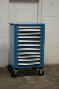 Used Lyon 11 Drawer Cabinet 51 Inch Mobile Industrial Tool Storage 1851 Vidmar