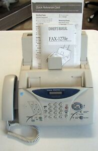 Brother Intellifax 1270e Fax Machine And Phone