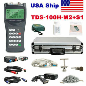 From Usa Shipping Tds 100h m2 s1 Ultrasonic Flow Meter Clamp on Transducers