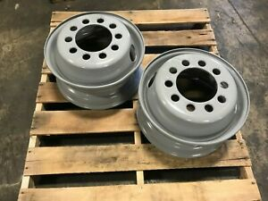 Wheel 17 5x6 75 Hc Dual Style Stud Piloted 10 Hole Accuride 28112 Nos Dinged