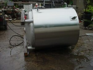 330 Gallon Sanitary Stainless Steel Jacketed Tank
