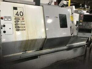 Used Haas Sl 40t Live Tool Cnc Turning Center Lathe C Axis Tailstock Gearbox 04