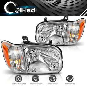 For 2005 2006 Toyota Tundra 05 07 Sequoia Headlights Assembly Headlamps Replace