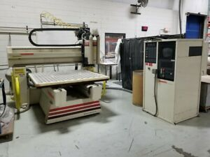 Used 1997 Thermwood Model C 40 Cnc Vertical 3 Axis Router Mill 15k Rpm 5x5 Atc