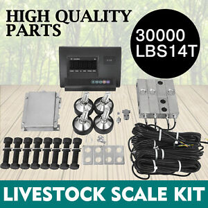 30000lbs Livestock Scale Kit For Animals Animal Weighing Load Cells Junction Box