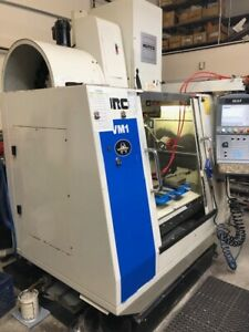Used 2007 Hurco Vm 1 Cnc Vertical Machining Center 30x16 Mill Machine Ct40 Auger