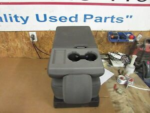 2017 2018 Ford Ext Cab F 150 250 f 350 super Duty Gray Cloth Jump Seat Console