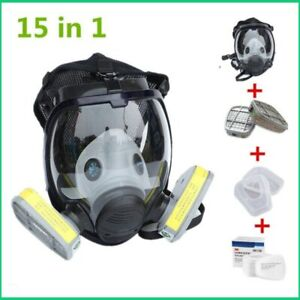 Gas Mask Chemical Respirator With Filters Industry Painting Spray High Quality