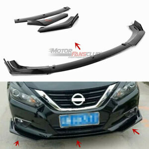 Front Bumper Lip Cover Trim Kits For Nissan Altima Sedan 2016 2018 Carbon Fiber