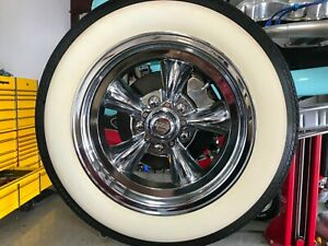 American Racing 15 Wheel 3 Wide 75mm White Wall Tire Trim 4pcs Hot Rod Rat Rod