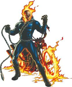 Ghost Rider With Bike 2 6 Vinyl Decal Stickers