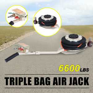 3 Ton Lifts Portable Triple Stage Bag Air Jack Frame Alignment Car Truck Shop