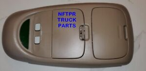 Used Ford Oem Superduty F 250 F 350 Overhead Console 2002 2004 Tan Parchment