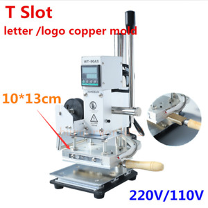 T Slot Hot Foil Stamping Machine 10 13cm Paper Embossing With Letters And Number