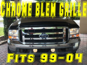 Ford Chrome Grille Conversion Fits 1999 2004 Super Duty Blem F250 F350 With Embl