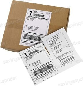 500 Ct Avery White Shipping Labels Paper Receipts 5 1 16 X 7 5 8 Half Sheet