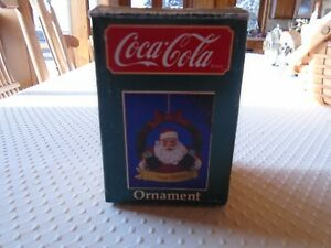FOUR VINTAGE COCA COLA CHRISTMAS TREE ORNAMENTS ' FROM 1989 . DIST.BY WILLITS