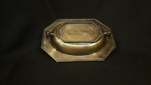 Antique Sheffield Silver Over Nickel Chafing Dish Covered Serving Dish