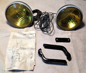 Vintage Blc 524 a Amber Yellow Fog Lights 5 3 4