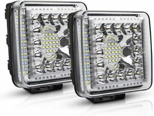 2x 4inch 1768w Led Pods Work Light Bar Flood Spot Combo Offroad Truck 4wd Suv