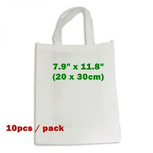 10pcs 7 9 X 11 8 Blank Sublimation Non woven Shopping Bags Tote Bags