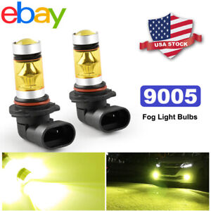 9005 Hb3 3000k Golden Yellow High Led Fog Driving Drl Light Bulbs Headlight Kit