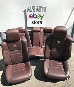11 17 Dodge Charger Seats 100th Anniversary Red Leather Power Full Set Oem