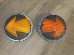 2 Vintage Jumbo 7 Lights Turn Signal Arrows Rat Rod Truck