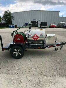 110 Gallon Fuel Trailer Steet Legal With 100ft Electric 1 Inch Hose Reel