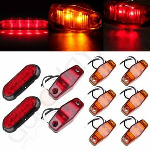 Trailer Led Light Kit Flange Mount Red Stop Turn Tail Utility Marker Screws