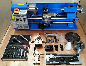 Cj18a Mini Lathe Blue Package 3 Brand New 7x14 Machine With Dro 4 Chuck