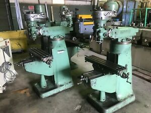 1 Hp Bridgeport Mill 5 Quill Travel R 8 Taper 42 X 9 Table 8 Speeds 80 2720
