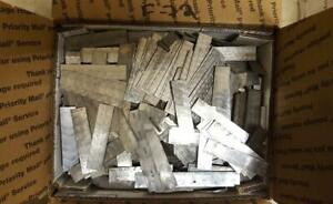 50 Letterpress Type Scrap Lead Lino Spaces Bullets Ammo Sinkers Foundry F72