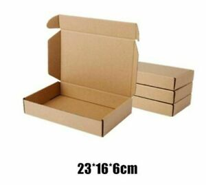 10x pack Kraft Paper Box Packaging Supplies Mailing Gifts Packing Post Giveaways