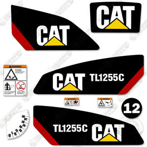 Caterpillar Tl1255c Telescopic Forklift Decal Kit Equipment Decals Tl 1255 C