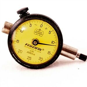Federal O11 Dial Indicator Precision 0 005mm Travel 2 5mm