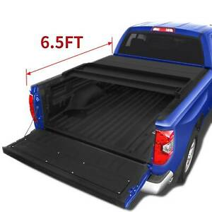 Oedro Tonneau Cover Fit For 2014 2019 Toyota Tundra 6 5ft Bed Soft Tri Fold