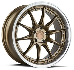 Aodhan Ds07 19x9 5 19x11 22 5x114 3 Bronze Staggered set Of 4