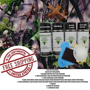 Hydrdographic Water Transfer Hydro Dip Full Kit Activator 1m Tree Camo 1 Film