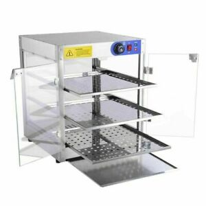 New Commercial 20x20x24 Countertop 3 tier Food Pizza Warmer Display Cabinet Case