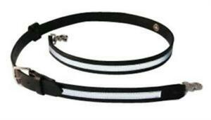 Boston Leather 6543rxl 1 Black Xl Reflective 1 1 4 Firefighters Radio Strap