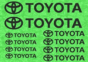 Toyota Decals For Wheels Rims Door Handle Window Stickers Yaris Celica Corolla