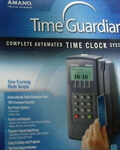 Amano Complete Automated Time Clock System Mtx 15 a300 Swipe Card Payroll