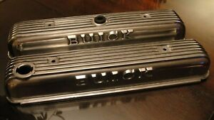 1965 64 Buick Riviera Gs 425 401 Original Finned Aluminum Valve Covers Polished