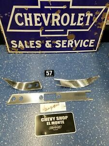 1957 Bel Air Nomad Dash Trim Kit W Script Emblem New