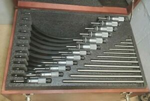 Starrett No 436 0 To 12 Outside Micrometer Set Carbide Faces
