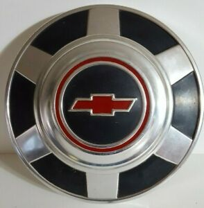 Vintage Chevy Hub Caps Red Black 1973 To 1987 3 4 1 Ton Truck 12 Dog Dish Set